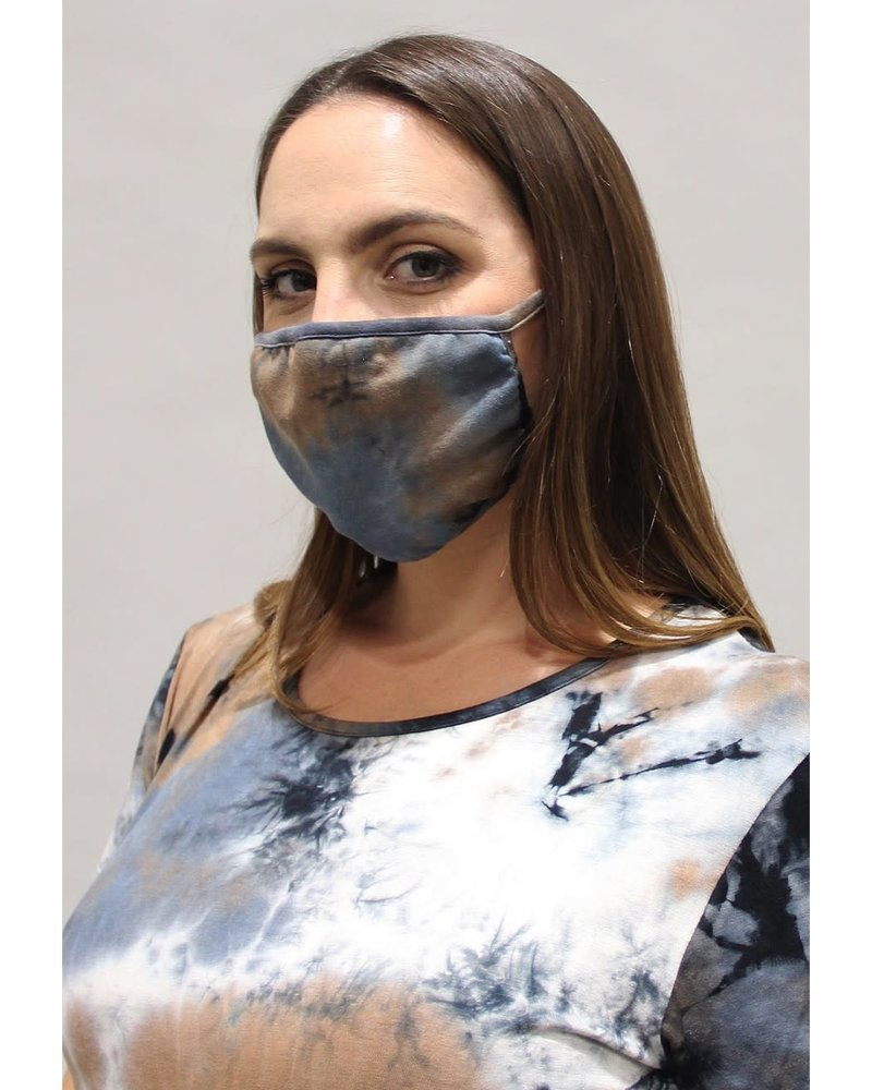 Coin1804 Coin1804 Adult Tie Dye Taupe Face Mask