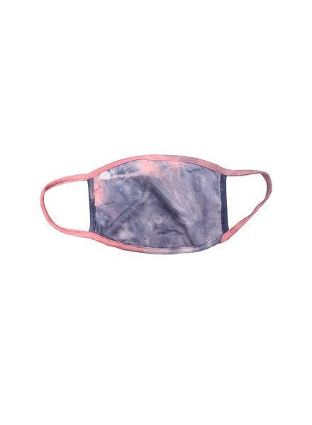 Coin1804 Adult Tie Dye Coral/Slate Face Mask