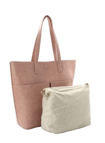 'Maddy' 2-in-1 Double Pocket Tote (More Colors)