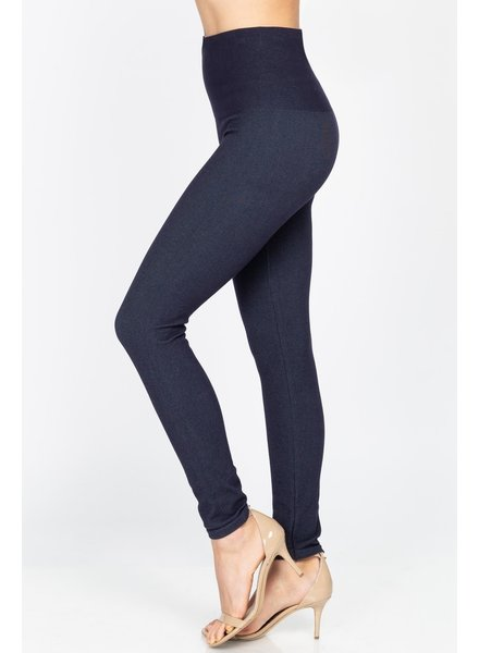 M. Rena Tummy Control Denim Leggings (More Colors)