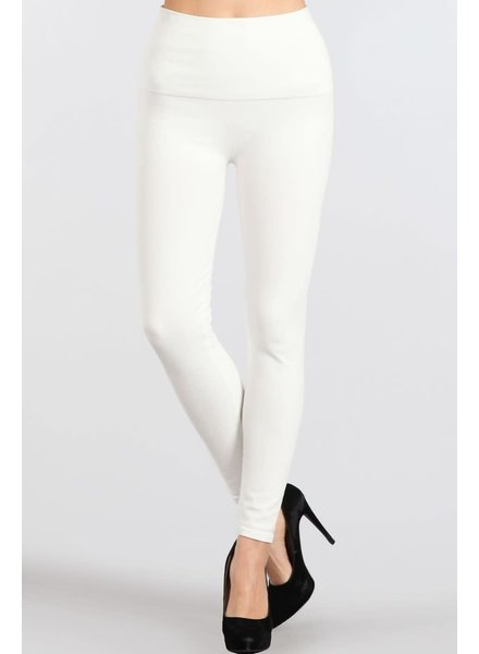 M. Rena Tummy Control Denim Leggings in White **FINAL SALE**