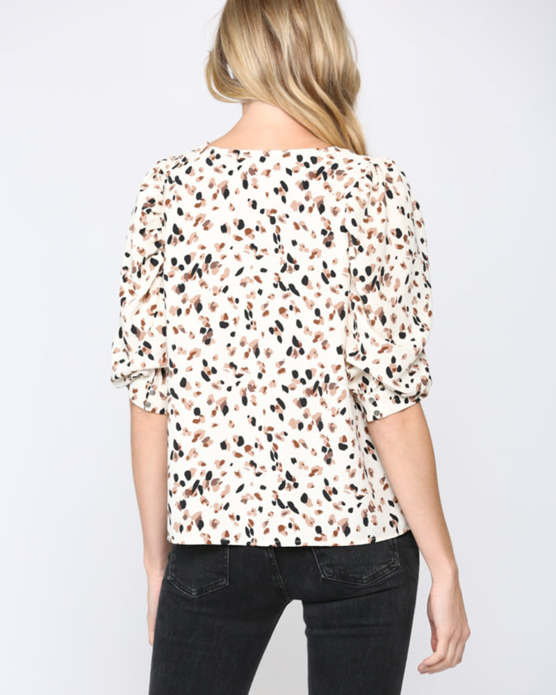 Fate by LFD Fate 'All Dotted Out' Puff Sleeve Top (Small) **FINAL SALE**