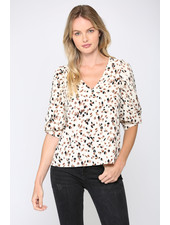 Fate by LFD 'All Dotted Out' Puff Sleeve Top (Small) **FINAL SALE**
