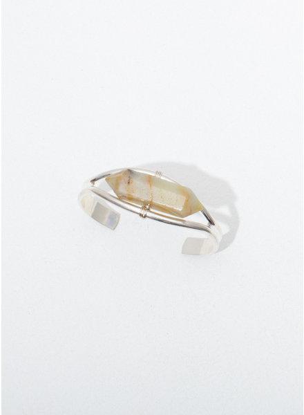 Larissa Loden Amazonite 'Crystal Cuff' Bracelet in Silver