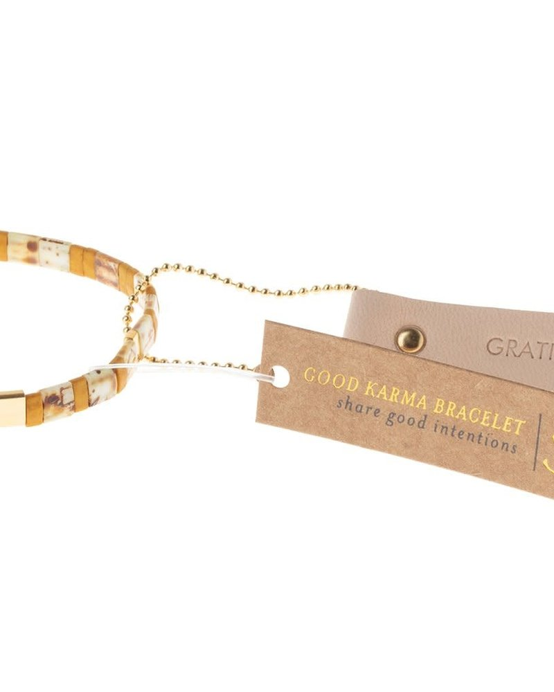 Scout Curated Wears Scout Good Karma Miyuki Bracelet - Gratitude in Amber/Gold