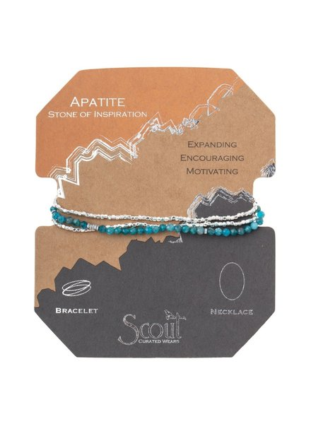 Scout Curated Wears Apatite Delicate Stone Wrap Bracelet/Necklace