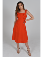 Baloot 'Donna' Ruffle Dress (Small) **FINAL SALE**