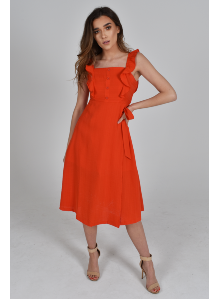 Baloot 'Donna' Ruffle Dress (Small) **FINAL SALE**