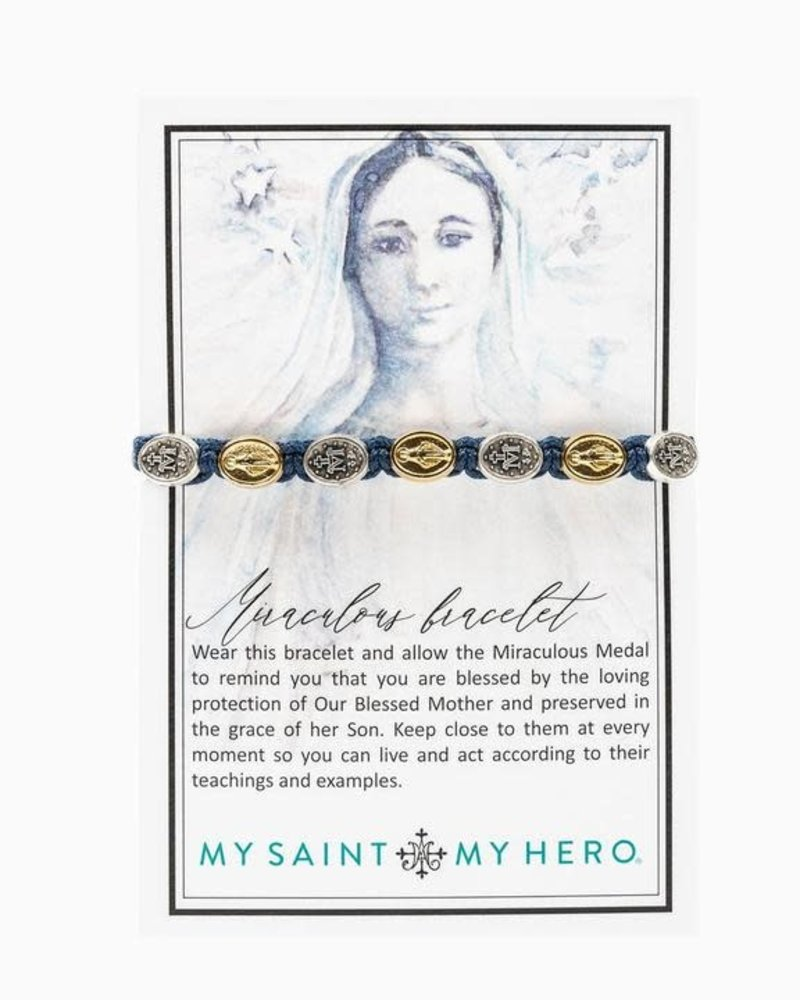My Saint My Hero My Saint My Hero Miraculous Mary Blessing Bracelet in Mixed Metal