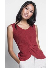 Pink Martini Collection 'Carrie' Knot Sweater Tank (Extra Small) **FINAL SALE**