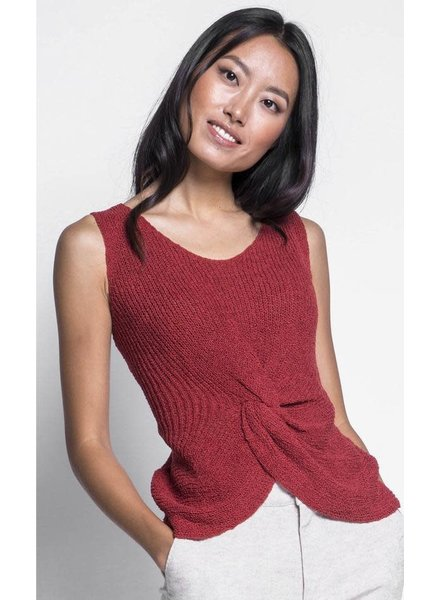 Pink Martini Collection 'Carrie' Knot Sweater Tank