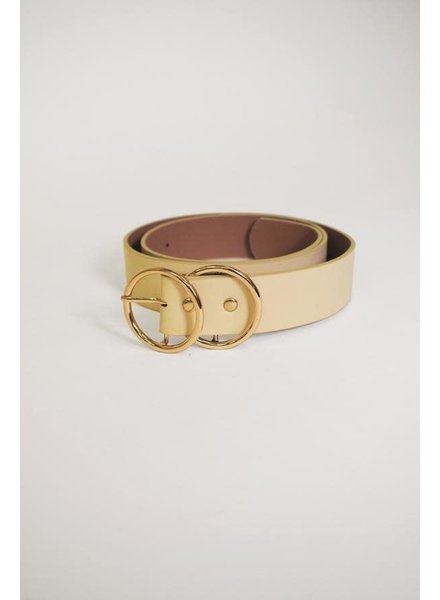 Pink Martini Collection Off White 'Mya' Belt