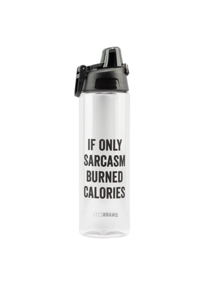Snark City 'If Only Sarcasm Burned Calories'  Water Bottle