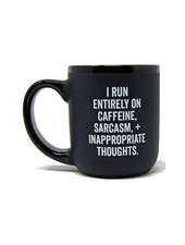 Snark City 'I Run On Caffeine' Oversized Mug