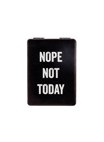 Snark City 'Nope Not Today' Compact Mirror
