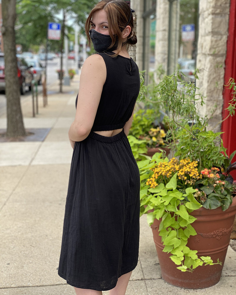 RD Style RD Style Black 'Just The Back' Dress **FINAL SALE**