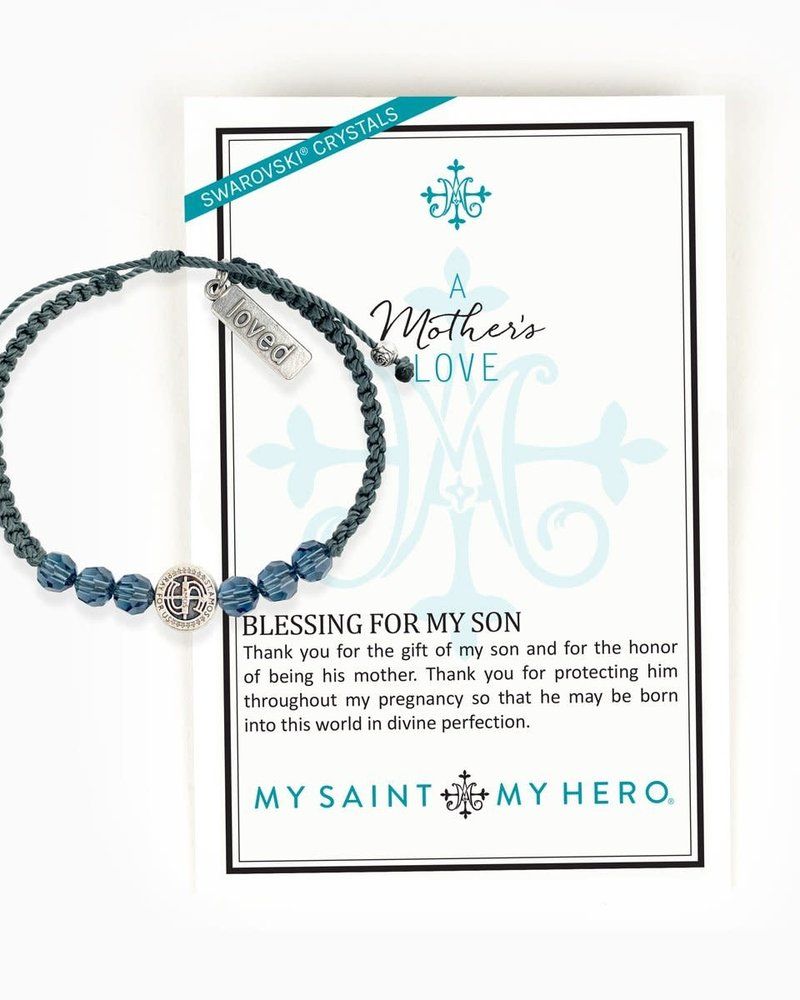 My Saint My Hero My Saint My Hero A Mother's Love Blessing For My Son Bracelet