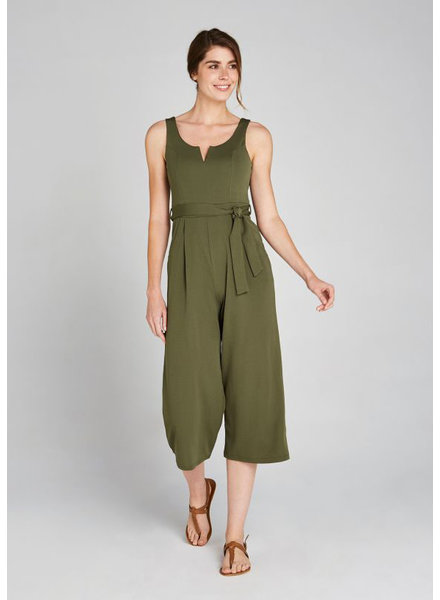 Apricot Olive '2 Of A Kind' V-Neck Jumpsuit