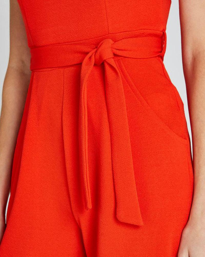 Apricot Apricot Tomato Red '2 Of A Kind' V-Neck Jumpsuit **FINAL SALE**