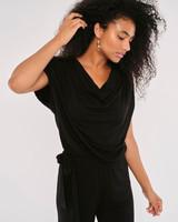 Apricot 'Sleek & Chic' Cowl Neck Jersey Jumpsuit
