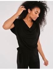Apricot 'Sleek & Chic' Cowl Neck Jersey Jumpsuit **FINAL SALE**
