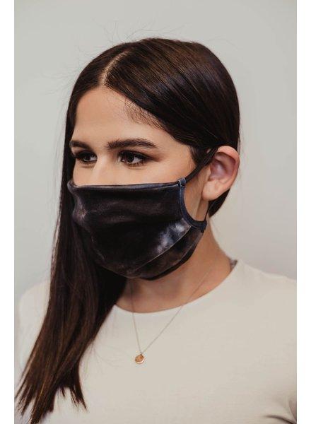 Veronica M Adult Smoke Grey Tie Dye Face Mask