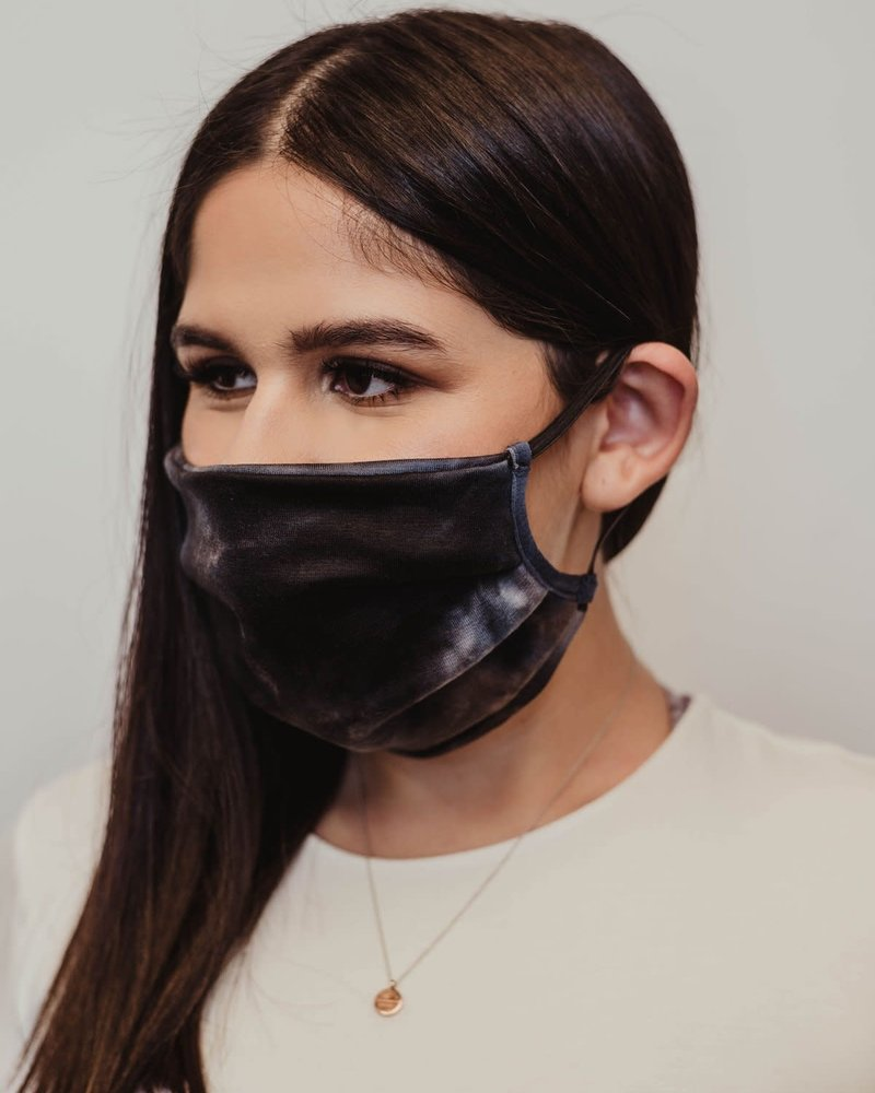 Veronica M Veronica M Adult Smoke Grey Tie Dye Face Mask