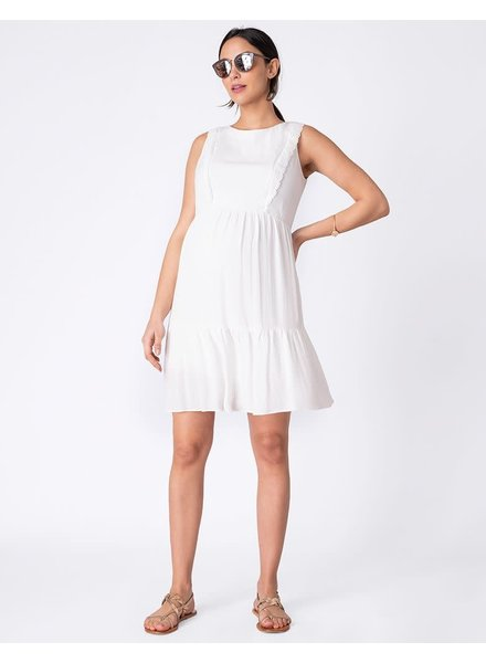 Seraphine Maternity 'Chloe' Lace Trim Nursing Dress