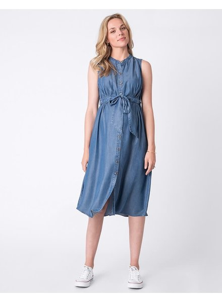 Seraphine Maternity 'Djena' Denim Maternity Shirt Dress