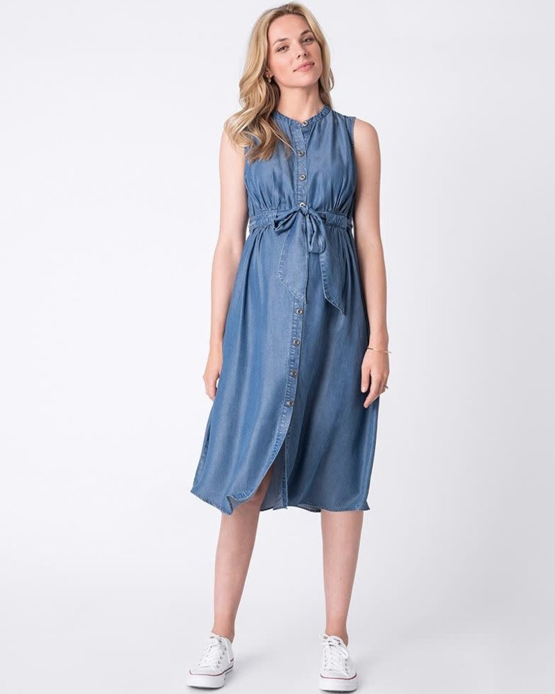 Seraphine Maternity Seraphine Maternity 'Djena' Denim Maternity Shirt Dress