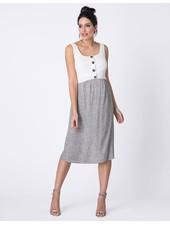 Seraphine Maternity 'Bristol' Contrast Layer Nursing Dress