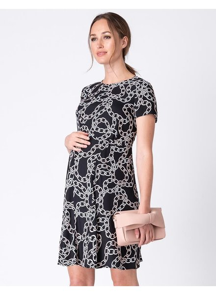 Seraphine Maternity 'Janette' Chain Print Maternity Dress