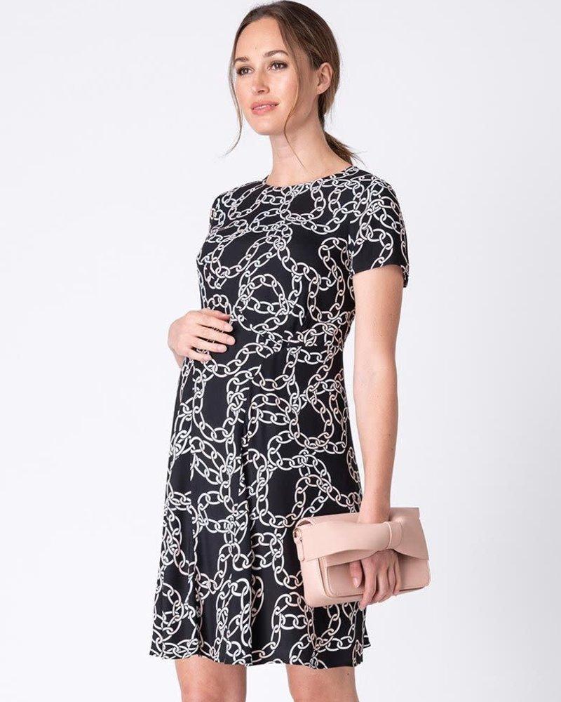 Seraphine Maternity Seraphine Maternity 'Janette' Chain Print Maternity Dress