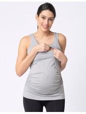 Seraphine Maternity Grey 'Aniza' Maternity/Nursing Tank