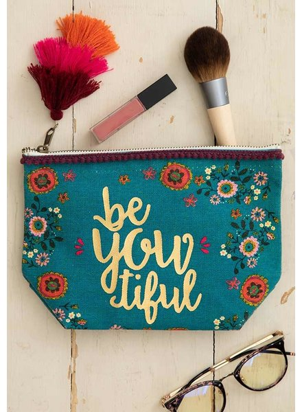 Natural Life 'beYOUtiful' Canvas Pouch