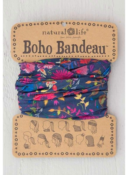 Natural Life Boho Bandeau in Navy Wild Flowers