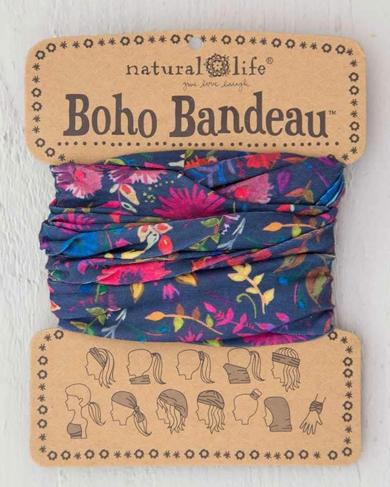 Natural Life Natural Life Boho Bandeau in Navy Wild Flowers