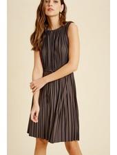 Wishlist 'Pleat Or Be Pleated' Sleeveless Dress (Large) **FINAL SALE**