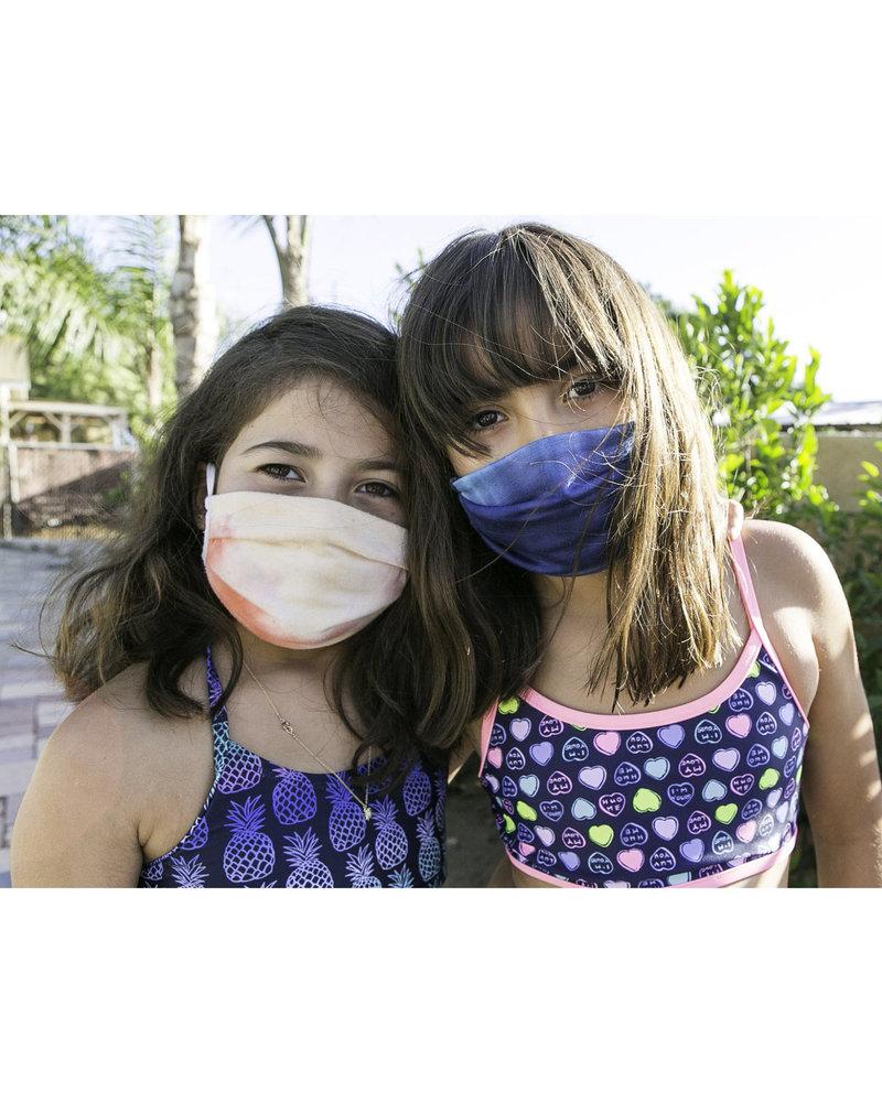 Veronica M Veronica M Kids Sherbet Tie Dye Face Mask