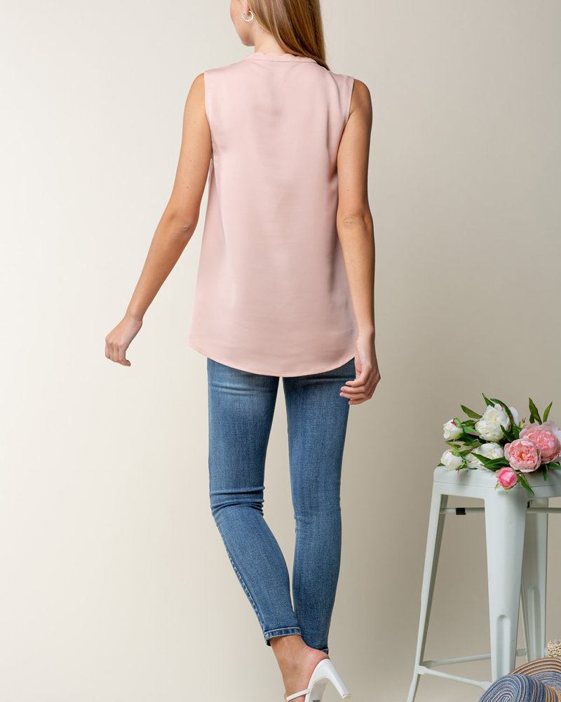 Doe & Rae Doe & Rae Rose 'The Sweetest Rose'  Sleeveless Top