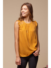 Doe & Rae Amber 'All That Frill' Sleeveless Top