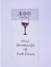 Rustic Marlin Personalized Real Housewife Tea Towel | Oak Lawn