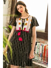 THML 'Spice of Life' Embroidered Dress