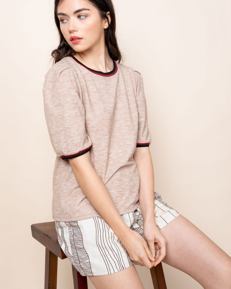 THML THML 'It's All GG' Puff Sleeve Top