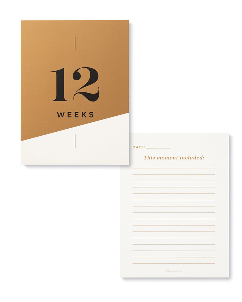 Compendium Compendium 'Moments Of Joy' Pregnancy Milestone Cards