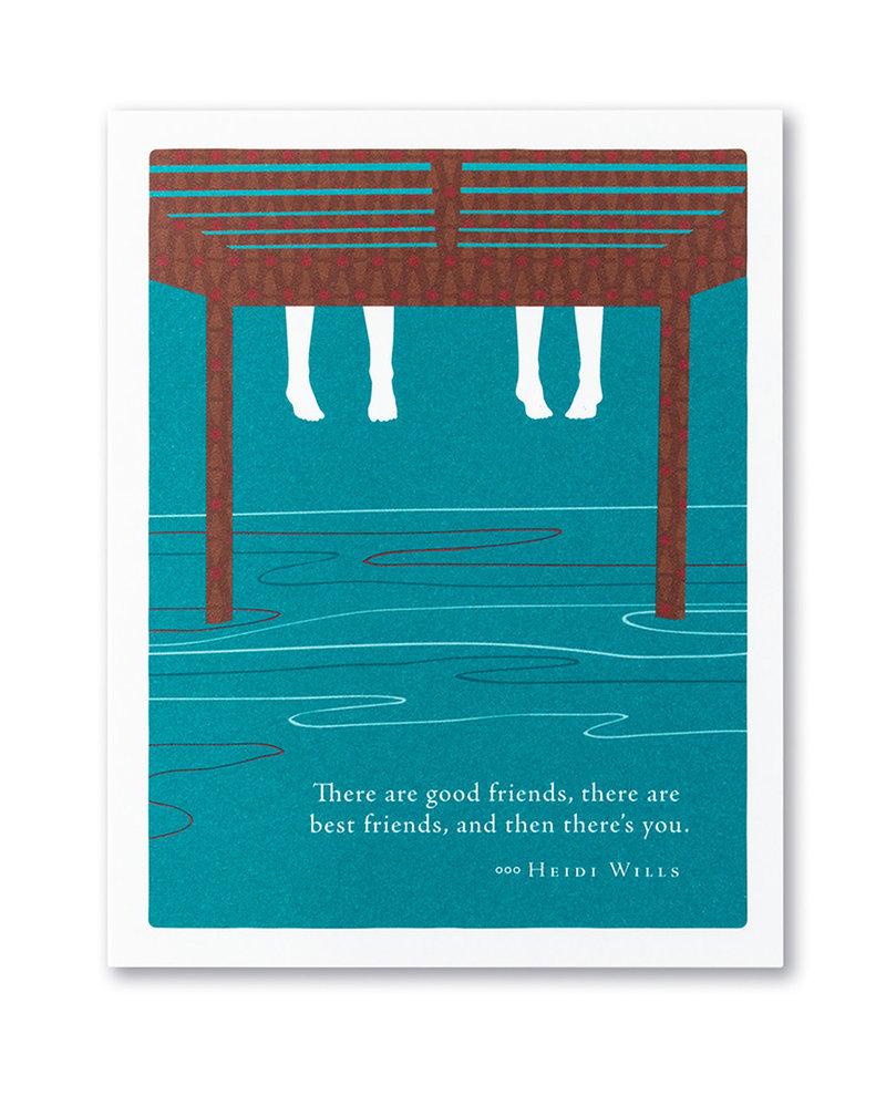Compendium Compendium Friendship Card   'There are good friends'