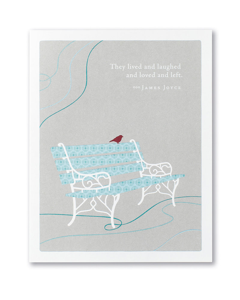 Compendium Compendium Sympathy Card | 'They Lived & Laughed'