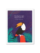 Compendium Birthday Card   'Do it big, do it right'