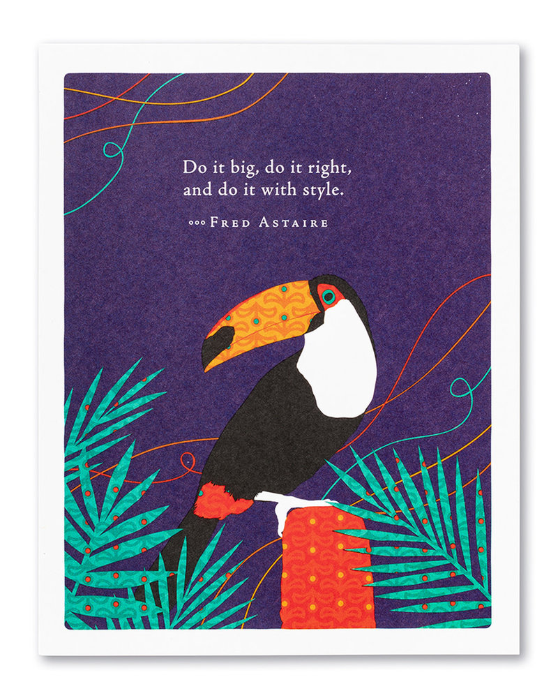 Compendium Compendium Birthday Card | 'Do it big, do it right'