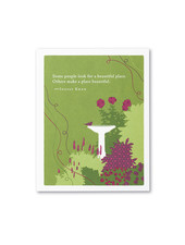 Compendium Thank You Card | 'Some People Look For A Beautiful Place'